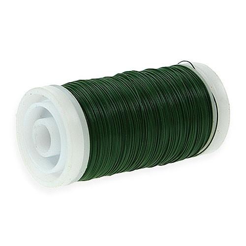 Myrtendraht, dunkelgrün-lackiert: 0,35mm Ø - 100 gramm SNAP-Spule