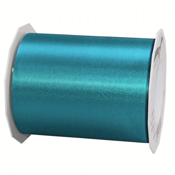 Satinband-ADRIA, dunkeltürkis: 112 mm breit / 25 m - Tischband