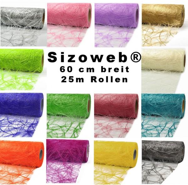 Sizoweb® 60cm breit / 25m-Rolle - das Original - Farbauswahl
