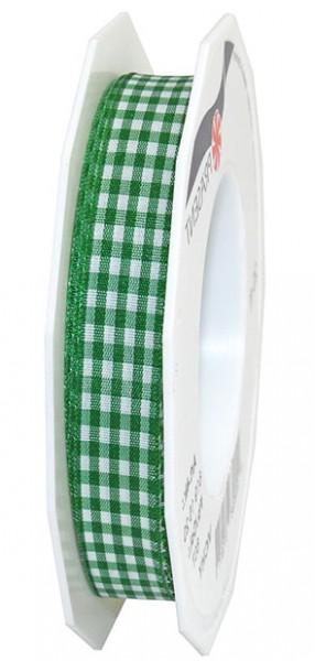 Vichy-Karoband, apfelgrün-weiss: 15mm breit / 20m-Rolle