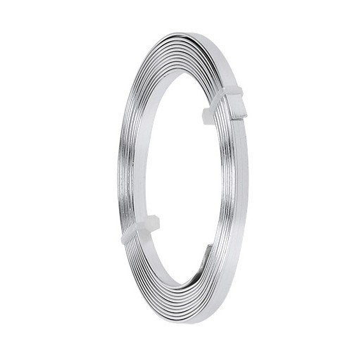 Aluminium-Flachdraht: ca. 5mm x 1mm - 10m-Ring: silber (21)