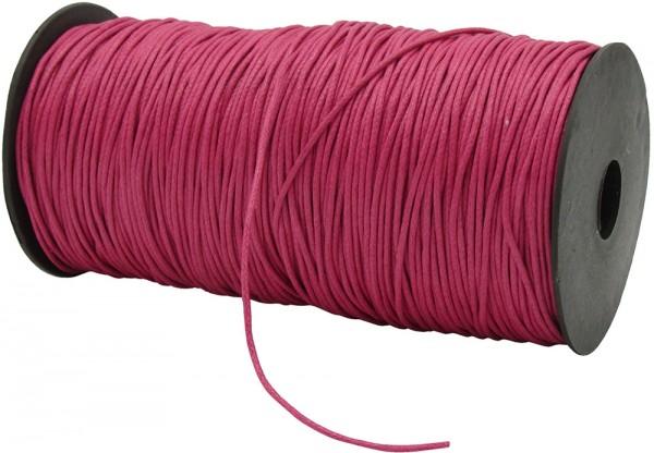 Gewachste Baumwollkordel, pink: 1,5 mm Ø breit / 200 Meter