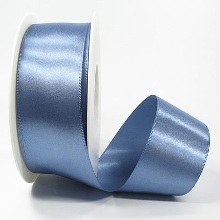 Satinband-SINFINITY, aquablau: 38mm breit / 25m-Rolle, mit feiner Webkante