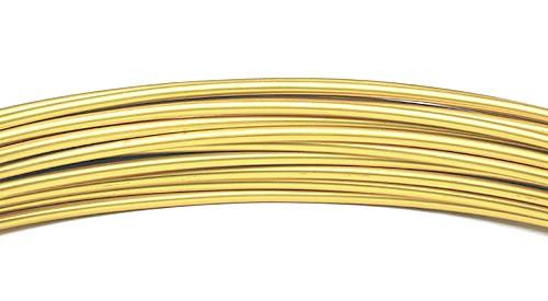 Aluminiumdraht: 2mm Ø - 3 Meter, gold