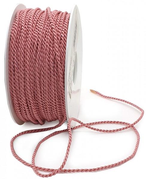Kordel: 2mm breit / 50m-Rolle, altrosa