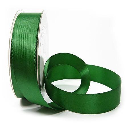 Satinband SATINA, jagdgrün: 25 mm breit, 50 Meter