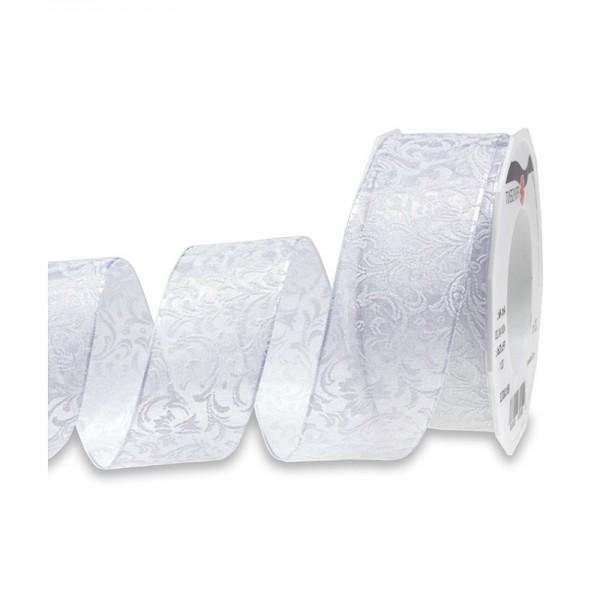 """Hochzeitsband """"New Castle"""": 40mm breit / 20m-Rolle, creme"""