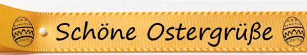 Schöne Ostergrüße gelb2: 15mm breit / 25m-Rolle