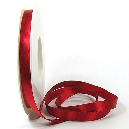 Satinband-SATINA, rot: 10 mm / 50 Meter