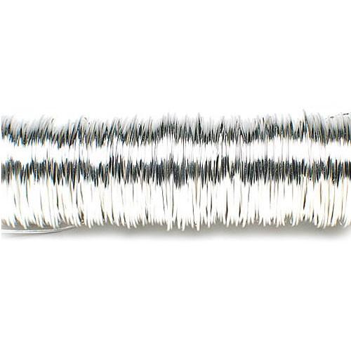 Decolackdraht, silber: 0,5mm Ø - 50m-SNAP-Spule = 100 gramm
