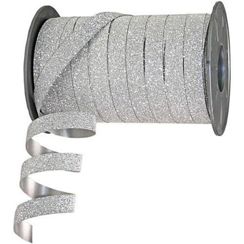 Polyband-Glitter: 10mm breit / 100m-Rolle, silber