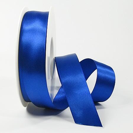 Satinband SINFINITY, royalblau: 25mm breit / 25m-Rolle, mit feiner Webkante.