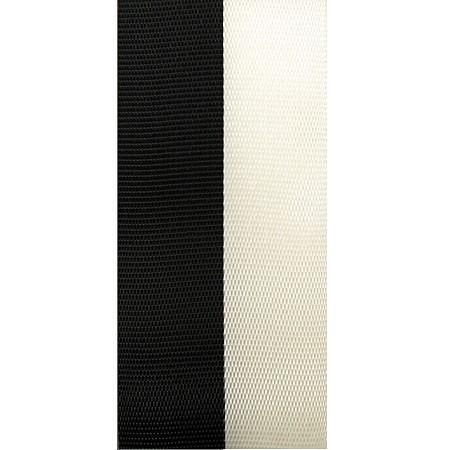 Vereinsband Schützenband, schwarz-weiss, 40mm breit / 25m-Rolle