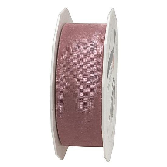 Organzaband-Sheer: 25mm breit / 25m-Rolle, rosa