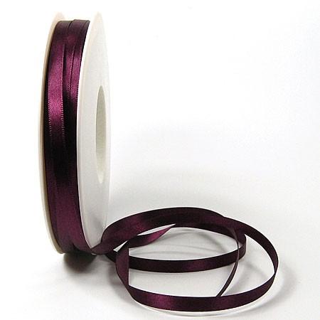 Satinband-SINFINITY, aubergine: 6mm breit / 50m-Rolle, mit feiner Webkante