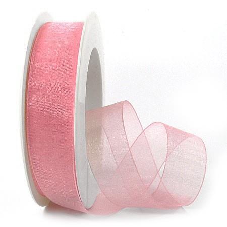 Organzaband, 25mm breit / 25m-Rolle, rosa: 1250025041