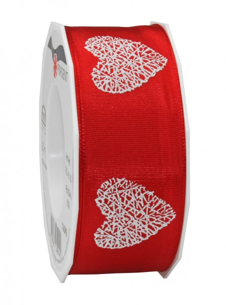 CUORE, 40mm breit, rot