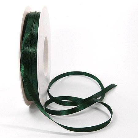 Satinband-SINFINITY: 6mm breit / 50m-Rolle, tannengrün, mit feiner Webkante.