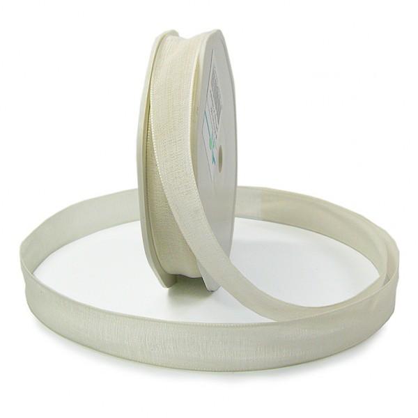Leinenband-NATURAL, 16mm breit / 20m-Rolle, creme.