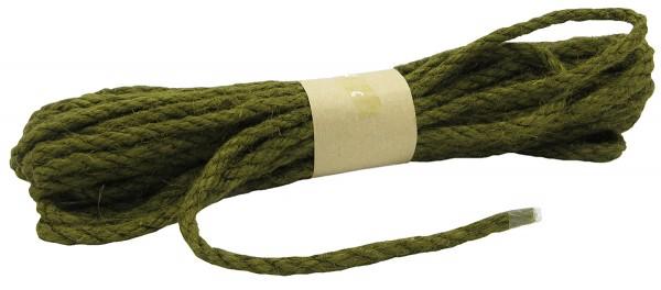 JUTE-Kordel, moosgrün: 5 mm breit - 10 Meter