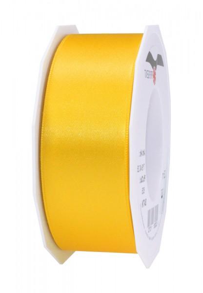Satinband-PRÄSENT: 40mm breit / 25m-Rolle, gelb.
