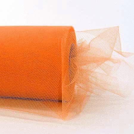 Tüllband: 100mm breit / 50m-Rolle, orange