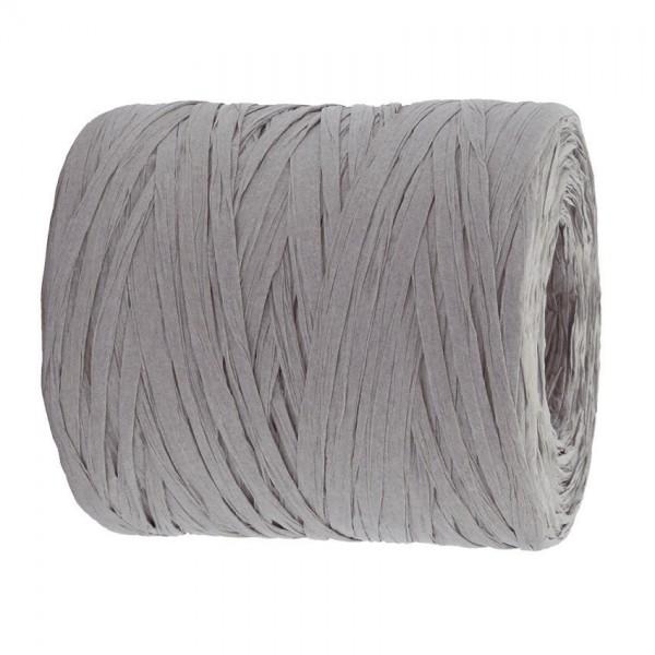 PAPER-Raffia-Bast, grau: 5mm breit / 200m-Rolle