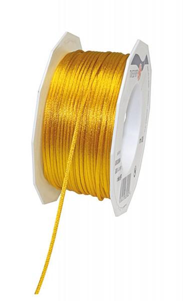 Satinkordel-RHEIN, gelb: 3 mm breit - 50-Meter-Rolle