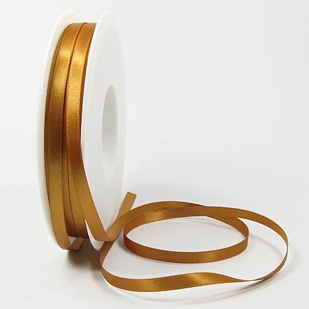 Satinband-SINFINITY, caramel: 6mm breit / 50m-Rolle, mit feiner Webkante.