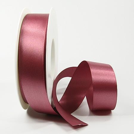 Satinband-SINFINITY, altrosa: 25mm breit / 25m-Rolle, mit feiner Webkante