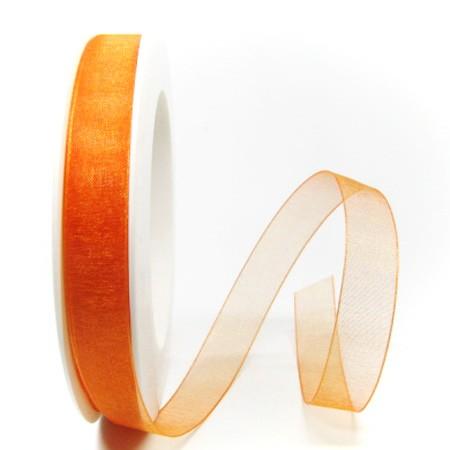 Orgnazanband, 15mm breit / 25m-Rolle: orange (120)