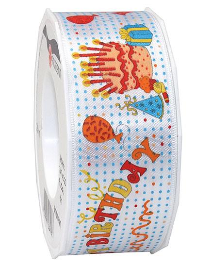 Geburtstagsband: BIRTHDAY PARTY, 40mm breit / 20m-Rolle
