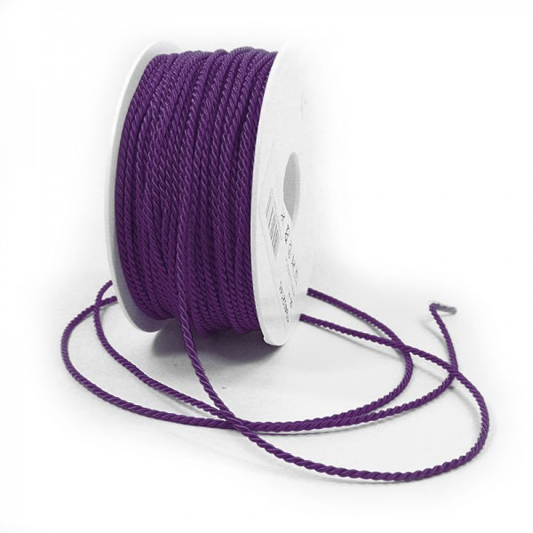 Kordel: 2mm breit / 50m-Rolle, violett