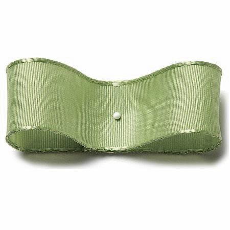 Drahtkantenband: 25mm breit / 25m-Rolle, hellgrün