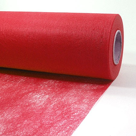 Dekovlies: 200mm breit / 25m-Rolle, rot