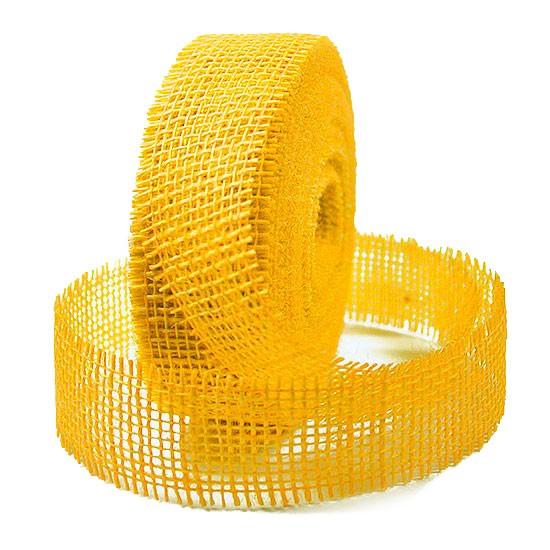 Juteband-Rupfenband: 40mm breit / 25m-Rolle, gelb