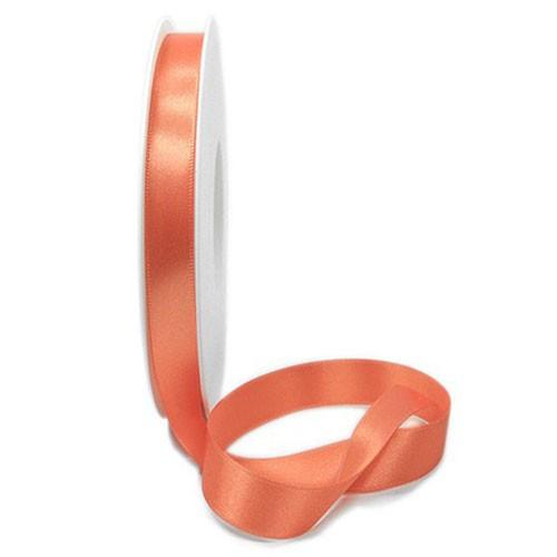 Satinband SINFINITY, apricot: 10mm breit / 25m-Rolle, mit feiner Webkante.