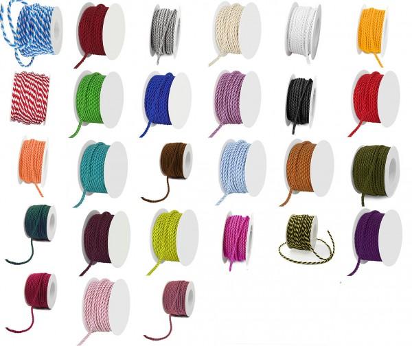 Kordel, 4mm breit - Farbauswahl