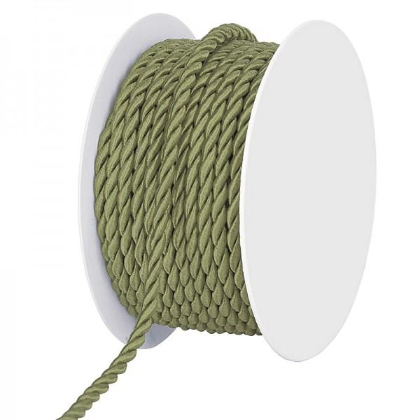 Kordel, gedreht - schilfgrün: 4 mm Ø breit / 25-Meter-Rolle