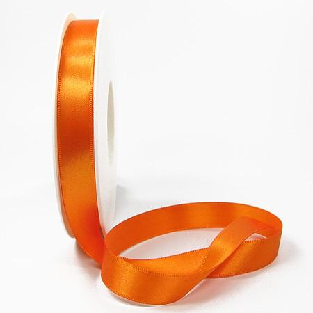 Satinband: 15mm breit / 25m-Rolle, orange.