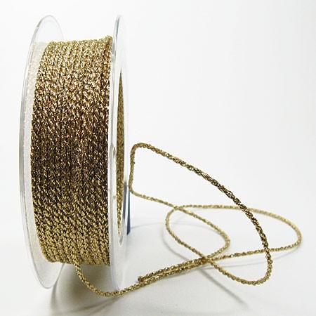 Lurexkordel 2mm, gold