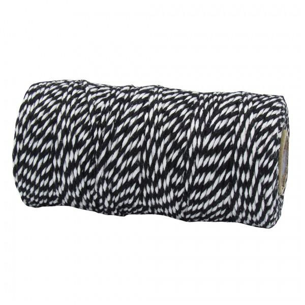Bäckergarn, schwarz-weiß: 2mm breit / 100m-Rolle