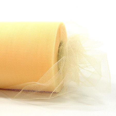 Tüllband creme, 100mm breit / 50m-Rolle