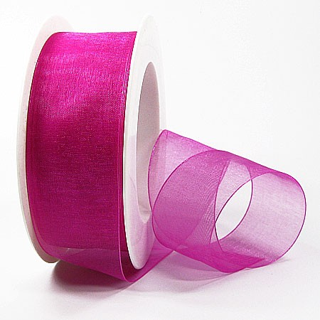 Organzaband: 38mm breit / 25m-Rolle, pink: 1250038121