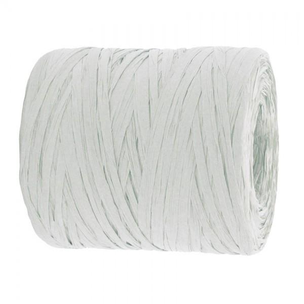 PAPER-Raffia-Bast, weiß: 5mm breit / 200m-Rolle
