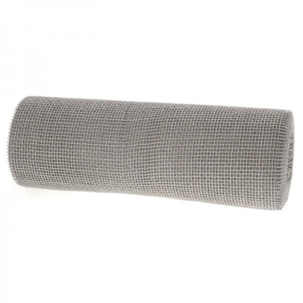 DEKOR-Jute - Tischläufer: 300mm breit / 10m-Rolle, grau-silber