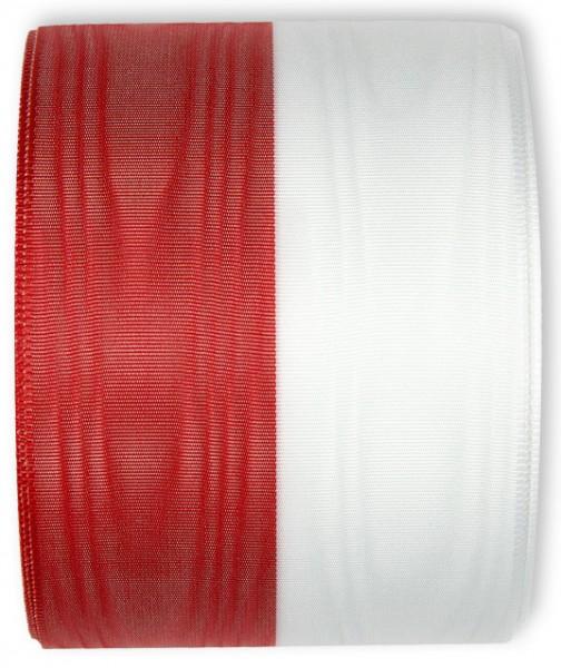 Nationalband POLEN, rot-weiss, 75 mm breit / 25m-Rolle