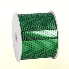 LOCHBAND-Chicago: 80mm breit / 45m-Rolle, grün-metallic