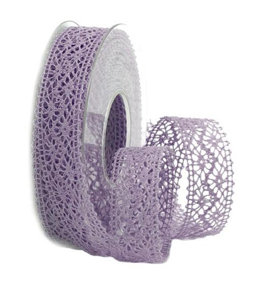 Häkelband, lila: 22mm breit / 10m-Rolle