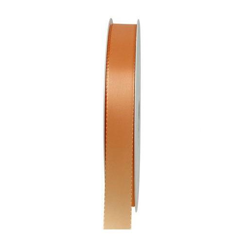 Taftband: 15mm breit / 50m-Rolle, apricot.
